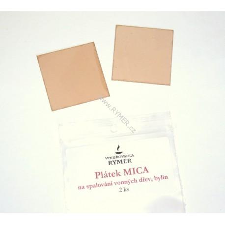 PLÁTOK mica - (z prírodnej sľudy) - 2ks