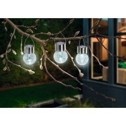 Solárne závesné LED osvetlenie Esotec Crackle Ball 102308 - sada 3ks