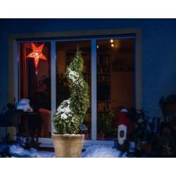 Solárna LED reťaz Esotec 102101 - 100 LED / 10m studená biela