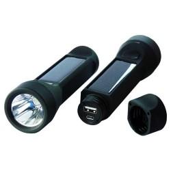 Solárna nabíjačka 2v1 2400mAh s 3W LED lampášom - Salamander