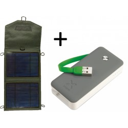 Solárny panel 5W USB Powerbank 4000mAh