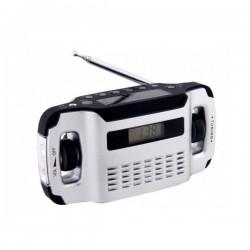 Solárne rádio AM/FM s dynamom a lampášom – LYNX