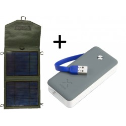 Solárny panel 5W USB Powerbank 6000mAh