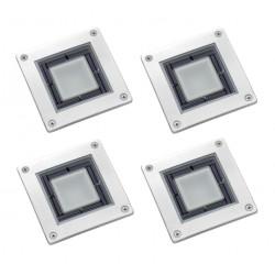 4x Solárne štvorcové podlahové osvetlenie