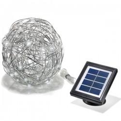 Solárna dekoračná guľa z hliníkového drôtu - Esotec 102112 - studená biela