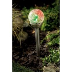 Solárna guľa Cole & Bright Mini Ice Orb - stĺpiková