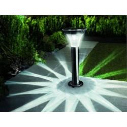 Solárne senzorové LED osvetlenie Cole & Bright Black Nickel stĺpikové čierne nikel