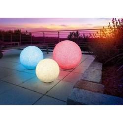 Solárna záhradná guľa Esotec Mega Stones 106029 - balenie 3ks