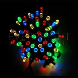 Solárna svetelná reťaz - 50 LED Multifarebná