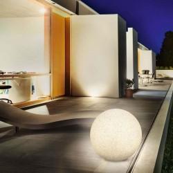 Solárna záhradná guľa Esotec Mega Stones 106022 50cm - kamenná