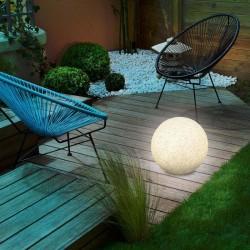 Solárna záhradná guľa Esotec Mega Stones 106020 30cm - kamenná