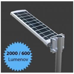 Solárne pouličné osvetlenie na stĺp - 15W 2000lm