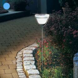 Solárna LED dizajnová stĺpiková lampa Esotec 102026 - studená biela