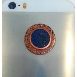 Orgonitový gombík na mobil – oko s lapis lazuli
