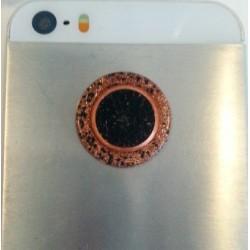 Orgonitový gombík na mobil – oko so šungitom