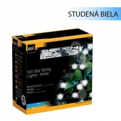 Solárna LED reťaz Cole & Bright Dual Power 100 LED 11,9m - hviezdičková