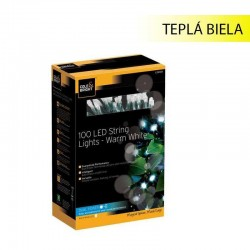 Solárna LED reťaz Cole & Bright Dual Power 100 LED 11,9m - teplá biela