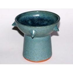 Kadidelnica keramická / pohár s ostňami – svetlo-modrozelená