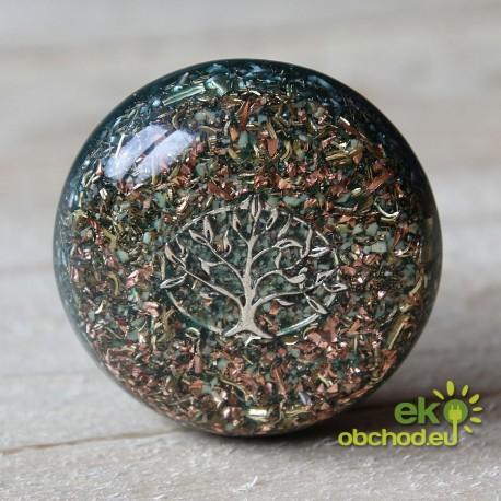 Priestorový orgonit – Hmatka s jadeitom v strome