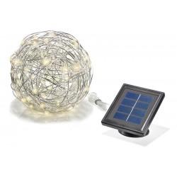 Solárna dekoračná guľa z hliníkového drôtu Esotec 102115 - teplá biela