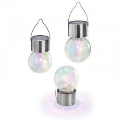Solárne závesné LED osvetlenie Esotec Color Ball 102305 sada 3ks