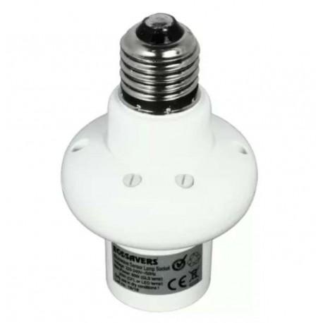 Mikrovlnný senzor pohybu na E27 Ecosavers Microwave Lampbase