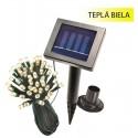 Solárna svetelná reťaz Esotec 102155 48 LED / 12m teplá biela