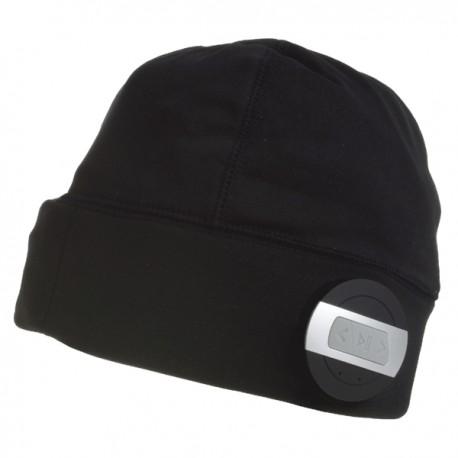 Vyhrievaná bežecká čiapka Glovii BG2XC s bluetooth - farba čierna