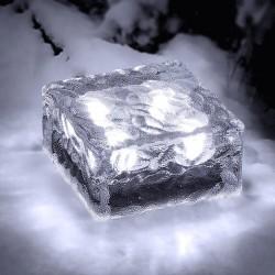 Solárne dekoratívne LED osvetlenie - Kocka ľadu Polarlite 0.08W - studená biela