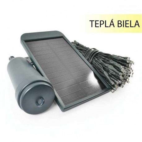 Solárna svetelná reťaz s USB Lumify Solarcentre - 300 LED / 30m teplá biela