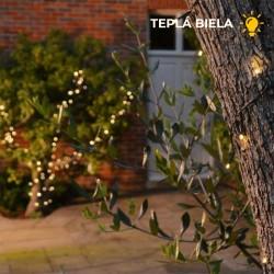 Solárna LED reťaz s USB Solarcentre Lumify LWW100 - 100 LED / 10m teplá biela