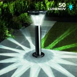 Solárne senzorové LED osvetlenie Cole & Bright Black Nickel stĺpikové čierny nikel