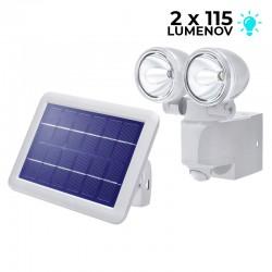 Solárny PIR senzorový reflektor Esotec 102418 - DUO Power 2