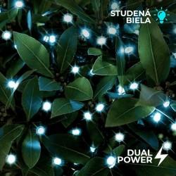Solárna LED reťaz Cole & Bright Dual Power 100 LED - 11,9m - studená biela