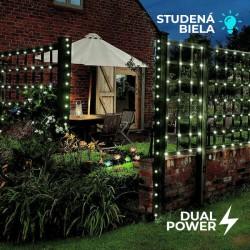 Solárna LED reťaz Cole & Bright Dual Power 200 LED - 14,9m