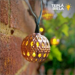 Solárna LED reťaz SolarCentre Elan Copper Ball SS9954 20 LED