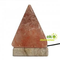Kvalitná USB soľná lampa – pyramída – 9 cm