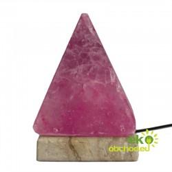Kvalitná USB soľná lampa – pyramída, viacfarebná - 9 cm