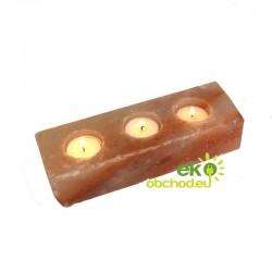 Svietnik z prírodnej himalájskej soli na 3 sviečky – obdĺžnik