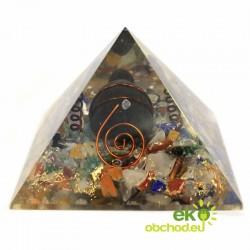 Orgonitová pyramída – korytnačka – 60 mm