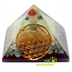 Orgonitová pyramída – kvet života – 70 mm