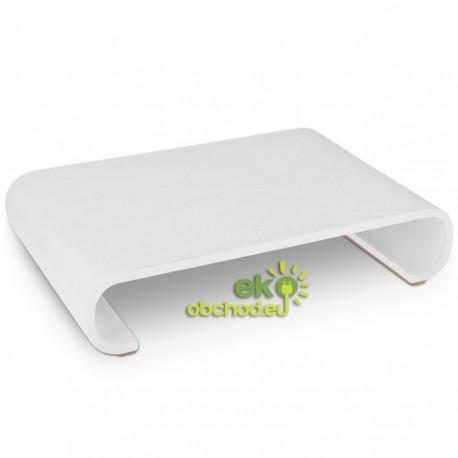 Drevený stojan pod monitor / notebook / Macbook – biela (typ 2)