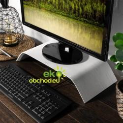 Drevený stojan pod monitor / notebook / Macbook – dub biely