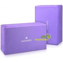 Sada joga blokov – pomôcka pre cvičenie jógy, pilatesu – fialová - 2ks