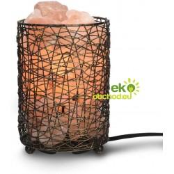 Himalájska soľná kovová lampa, elektrická so stmievačom – 1,7 - 2 kg