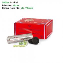 Rýchlozápalné uhlíky - Three Kings - priemer 40mm – krabica – 10 valcov