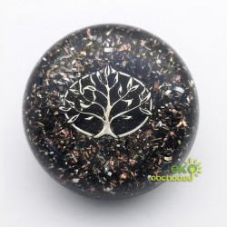 Priestorový orgonit – Hmatka s čiernym turmalínom v strome