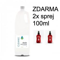 Dezinfekcia na ruky CLEANEE - 1 liter + 2x fľaštička s rozprašovačom