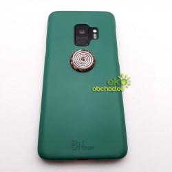 Orgonitový gombík na mobil s keltskou špirálou – strieborná farba