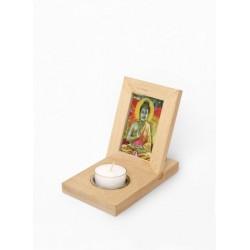 Drevený rámček na fotky so sviečkou